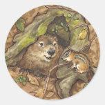 Pegatinas de Groundhog Pegatinas Redondas