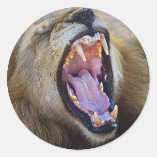 Pegatinas de gruñido del safari de la fauna del pegatina redonda