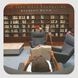 Pegatinas de Guillermo H. Hannon Library Calcomanías Cuadradass