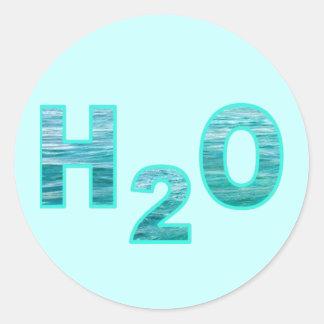 Pegatinas de H2O o sellos del sobre Pegatina Redonda
