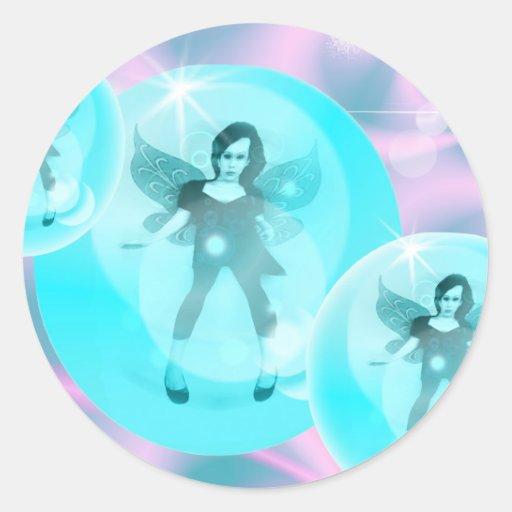 pegatinas de hadas de la magia de la burbuja pegatina redonda