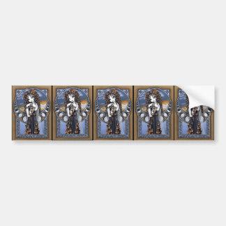 Pegatinas de hadas del arte de la luna gótica de l etiqueta de parachoque