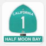 Pegatinas de Half Moon Bay de la carretera 1 de Ca