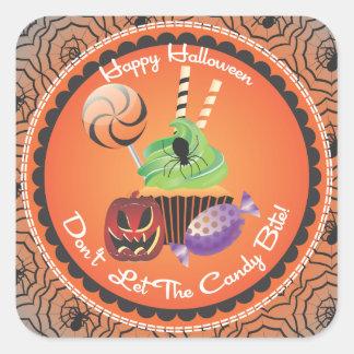 Pegatinas de Halloween Calcomanía Cuadrada