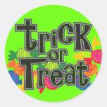 ¡Pegatinas de Halloween a dar y a negociar! Etiqueta Redonda