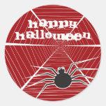 pegatinas de Halloween de la araña y del Web del Pegatina Redonda
