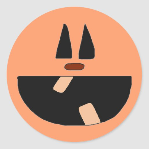 Pegatinas de Halloween de la cara de la calabaza Pegatina Redonda