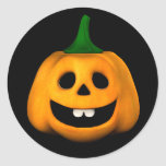 Pegatinas de Halloween de la linterna de Jackie Pegatina Redonda