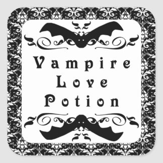 Pegatinas de Halloween de la poción de amor del Pegatina Cuadrada