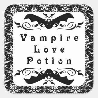 Pegatinas de Halloween de la poción de amor del va Colcomanias Cuadradases