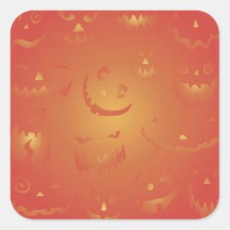 Pegatinas de Halloween de las calabazas que Colcomanias Cuadradases