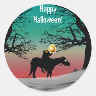 Pegatinas de Halloween del jinete sin cabeza