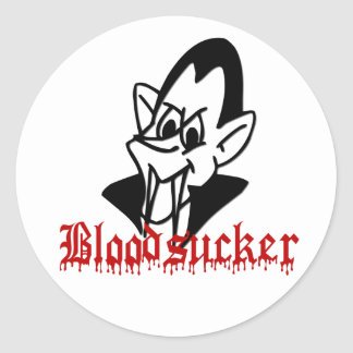 Pegatinas de Halloween del vampiro del Bloodsucker Pegatina Redonda