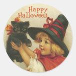 Pegatinas de Halloween del Victorian Etiqueta Redonda