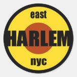 "Pegatinas de Harlem 3"" pulgadas Pegatina Redonda"