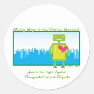 Pegatinas de HeartBot Pegatina Redonda