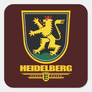 """Pegatinas de """"Heidelberg"""" Pegatina Cuadrada"""