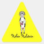 Pegatinas de Helen Holstein Pegatina Triangular