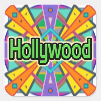 Pegatinas de Hollywood del diseño de la alegría