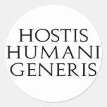 Pegatinas de Hostis Humani Generis Etiqueta Redonda