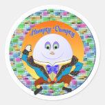 Pegatinas de Humpty Dumpty Etiquetas Redondas