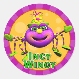 Pegatinas de Incy Wincy de la diversión Pegatinas Redondas