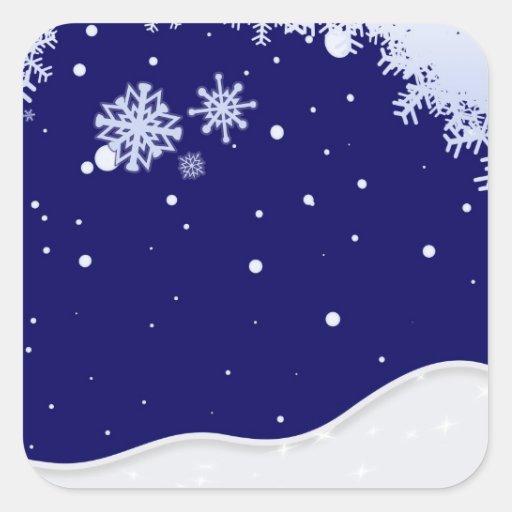 Pegatinas de invierno calcomania cuadrada personalizada