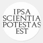 Pegatinas de Ipsa Scientia Potestas Est Etiquetas Redondas