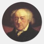 Pegatinas de John Adams Pegatina Redonda