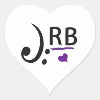 Pegatinas de JRB Pegatina En Forma De Corazón