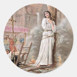 Pegatinas de Juana de Arco Pegatina Redonda