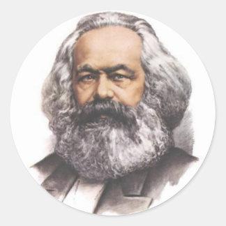 Pegatinas de Karl Marx Pegatina Redonda