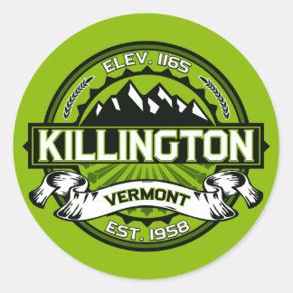 Pegatinas de Killington Etiquetas Redondas