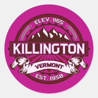 Pegatinas de Killington Etiqueta Redonda