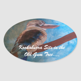 "Pegatinas de ""Kookaburra"" Colcomanias Ovaladas"