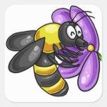 Pegatinas de la abeja calcomania cuadrada personalizada