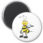 Pegatinas de la abeja: Abeja que presenta con la m Imán