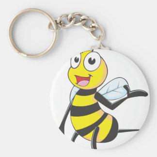 Pegatinas de la abeja Abeja que presenta con la m Llavero