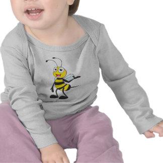 Pegatinas de la abeja: Abeja que presenta con la Camisetas