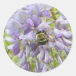 Pegatinas de la abeja de carpintero de las pegatina redonda