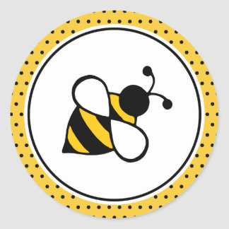 Pegatinas de la abeja etiquetas redondas