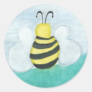 Pegatinas de la abeja pegatina redonda
