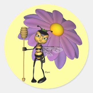 Pegatinas de la abeja reina