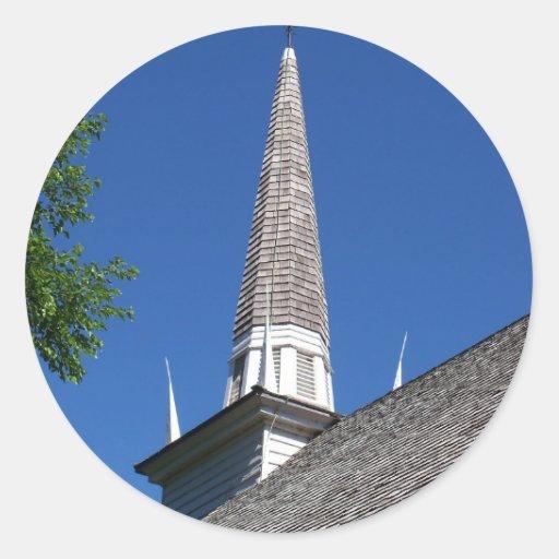 Pegatinas de la aguja de la capilla pegatina redonda