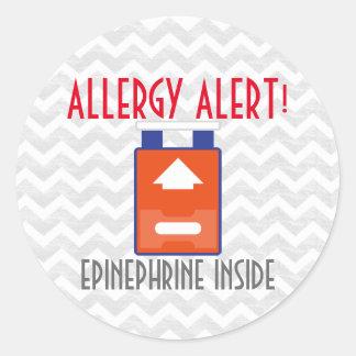 Pegatinas de la alarma de la alergia de la pegatina redonda