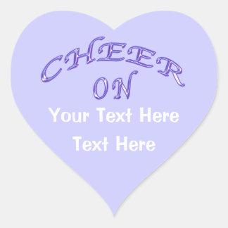 Pegatinas de la alegría con dos cajas de texto pegatina en forma de corazón