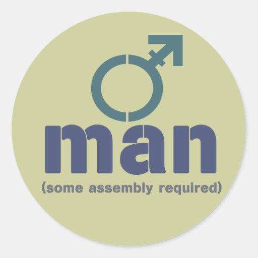 Pegatinas de la asamblea del T-Man