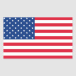 Pegatinas de la bandera americana rectangular pegatina