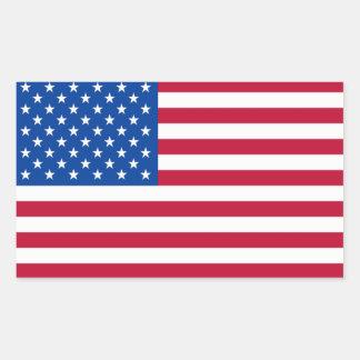Pegatinas de la bandera americana rectangular altavoces
