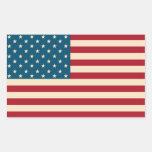 Pegatinas de la bandera americana pegatina rectangular